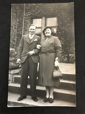 Vintage Postcard - RP Anonymous People - Couple #30