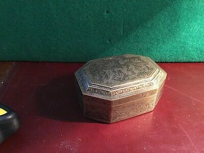 An Antique  Brass  Box Nicely Decorated (Eastern)