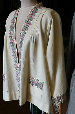 1920s 30s vintage hand embriodered indian jacket top size 8-12