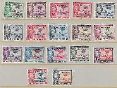 Gambia  1938  S G 150 - 161   Complete Set Of Sixteen  M H