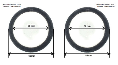 Rubber Washer Seals For Solvent Weld Kockney Koi Tank Connectors- 40mm & 50mm