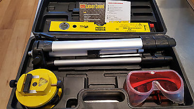 Power Master Self levelling laser level kit with tripod & goggles vgc