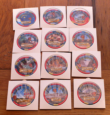 $5 Las Vegas NV Pioneer Club Casino Chips Set (12) *RARE*