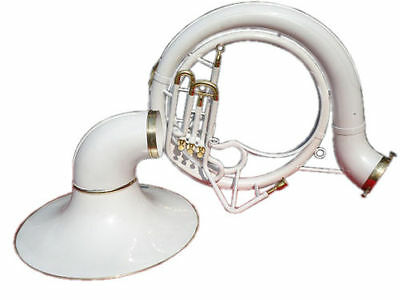 Brand New:sousaphone.tuba_White_Colored 25'' Bell_Bb Pitch *w/bag&mp Brassitem