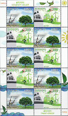 Armenia MNH** 2016 New postage stamps dedicated to Europa 2016 Think green SHEET