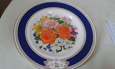 Royal Worcester 1986. Andrew and Sarah Wedding.Collectible PLate