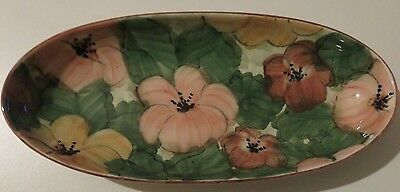 Brand New - Beautiful Jersey Pottery Floral Plate - Amazing Detail !