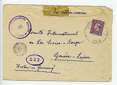 Poland GB Poczta Polowa 130 Polish Forces 1945 cover to Red Cross (H006)