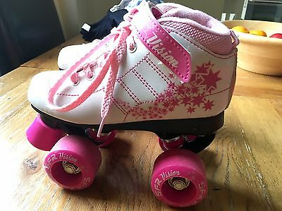 Vision SFR Roller Skate Boots - White/Pink Size 13