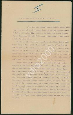 Greece Thasos Thassos Food Supply Wwi  Letter Report French Authorities