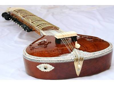 Sitar Carving Fusion  Electric Travel Coral Acoustic Studio Sitar Gsm017