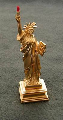 """Estee Lauder Goldtone """"Statue of Liberty"""" Solid Perfume Collection - Year 2000"""