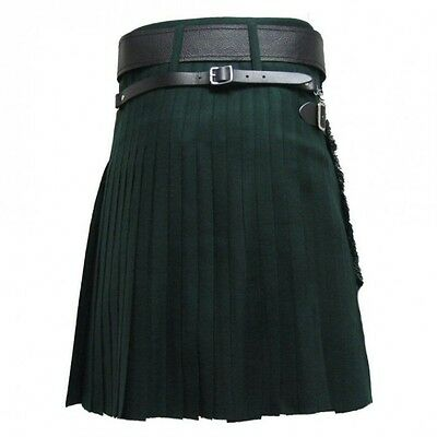 Modern Forest Green Tartan Scottish Traditional Kilts