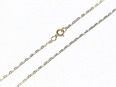 "9ct Gold Fine Lightweight Trace Chain Necklace 16"" 18"" 20"""