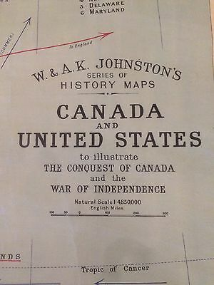 Wall Map- Canada And The United States 1763