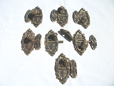 7-  Antique Solid Brass Cabinet Hardware  Stamped Portugal