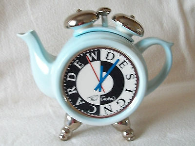 **what's The Time? Beautiful Cardew Alarm Clock Teapot** **in Superb Condition**
