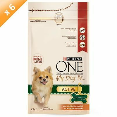 Purina ONE My Dog Is Active, riche en Poulet, avec du riz - 1,5 KG (x6) - Pour p