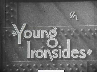 """9.5 Mm Silent Film """"young Ironsides"""" In 2 Parts Starring Charlie Chase"""