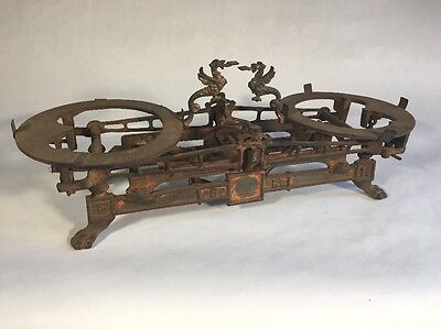 Cast-Iron Scale 5 Kg Dragons Animal Feet Rusty Great Patina