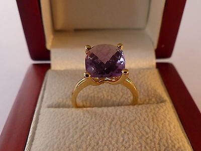 Pre- owned 18ct Yellow Gold Amethyst Ring