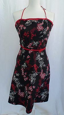 Vintage 70's Floral and Butterfly Pattern Dress Juniors Size M See Measurements