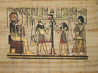 EGYPTIAN  PAPYRUS Handmade Colorful Piece 12 x 27 inches