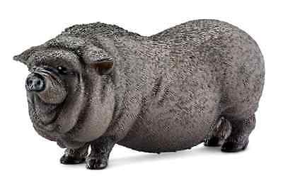 Schleich Pot-Bellied Pig Toy Figure 2 days free shipping