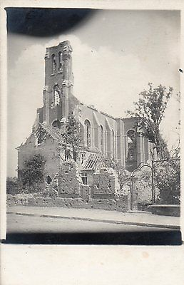 Real Photographic Postcard Pashendale Church 1917