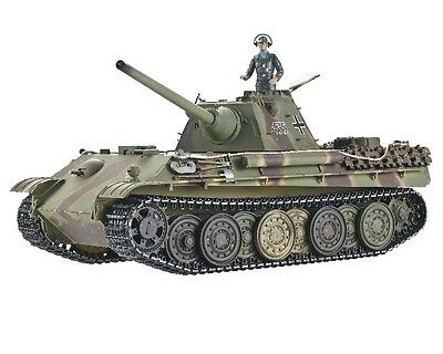 1:16 Taigen Panther F RC Battle Tank 2.4GHz Smoke & Sound Airsoft Metal Edition