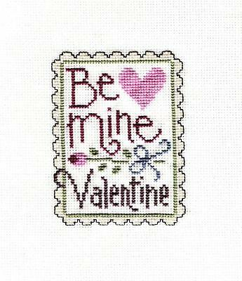 Completed Cross Stitch Be Mine Valentine