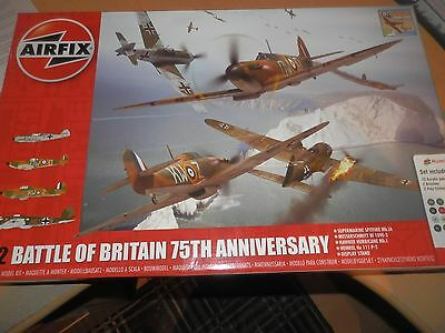 Airfix Battle Of Britain 75Th Anniversary Set He-Iii P-2  Bf109E Spitfire Mk.ia