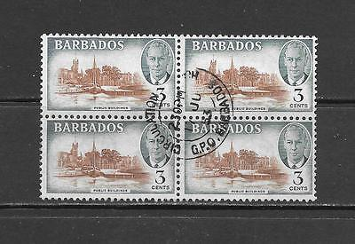 BARBADOS - Scott #218 Used Block of 4 Stamps