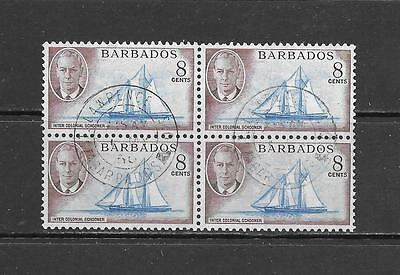 BARBADOS - Scott #221 Used Block of 4 Stamps