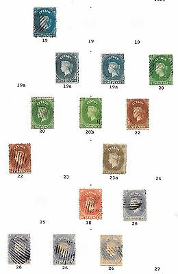 Ceylon stamps 1861 Specialised Collection between SG 19-26  CAT VALUE $850