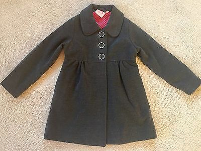 Laura Ashley Girls Dark Grey Coat 4-5 years