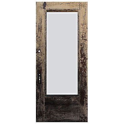 "Reclaimed Antique 36"" Door with Beveled Glass, Egg-and-Dart, NED600"
