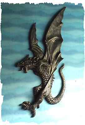 DRAGON - Incredibly detailed 3-dimensional dragon for wall mounting - tall
