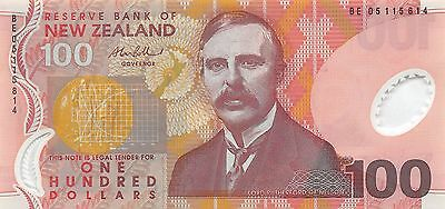 New Zealand  $100  2005  P 189b  Series BE  Uncirculated Banknote