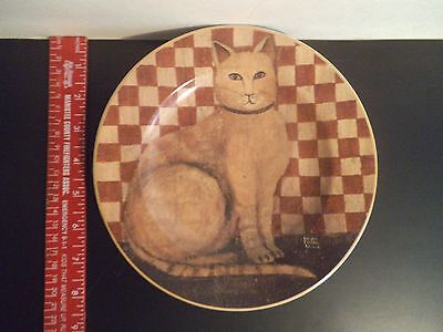 """Country Kitties, 2004 David Carter Brown Collection , 8 1/4"""" plate Cat Plate"""