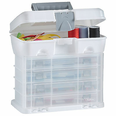 VonHaus Utility Storage Tool Box Carry Case with 4 Drawers & Organiser Dividers