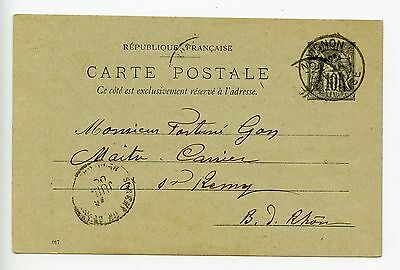 France postal stationery postcard used 1900 Avignon (K787)