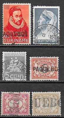 Surinam stamps Collection of 6 stamps  cancel PAQUEBOT  Attractive!