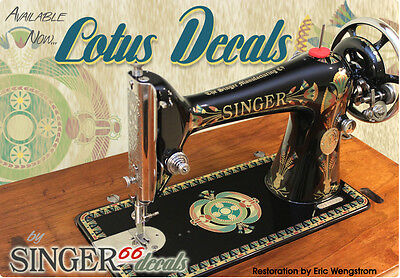 --  LOTUS SINGER Model 66 COLOR CORRECT!! Sewing Machine Restoration DECALS