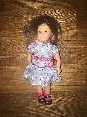 """American Girl Doll Emily 6"""" Mini Doll Collector Dressed W Meet Dress Small Doll"""
