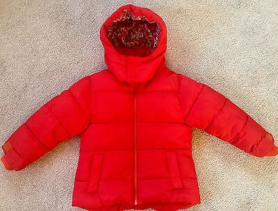 Next Red Quilted Jacket / Coat 4 years