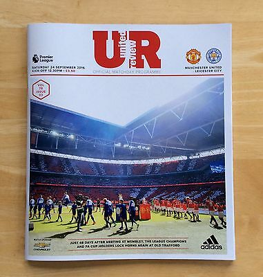 Manchester United V Leicester City 2016/17 Programme