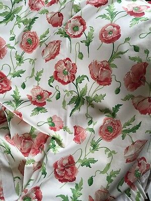 Laura Ashley Fabric Curtains Poppy Fabric Fully Lined