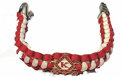 Kappa Alpha Psi Fraternity Survival Paracord Bracelet with Organization Symbol