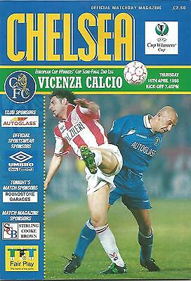 Football Programme - Chelsea v Vicenza Calcio - Cup Winners' Cup Semi-Final 1998